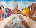 """""""Burano"""", aquarelle de Nassim, 11 ans"""
