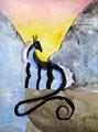 Dragon de Flora, 8 ans et demi (aquarelle sur papier)