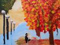 acrylique sur toile de Nassim (11 ans)