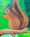 Ecureuil de Salomé, 10 ans (acrylique sur toile)