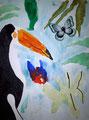 Toucan de Aaron, 8 ans, aquarelle