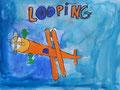 Avion de Aaron, 8 ans (acrylique)