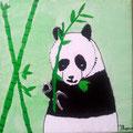 Panda de Flora, 8 ans et demi (acrylique sur toile)