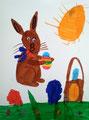 Lapin de Pâques de Aaron, 7 ans (technique mixte)