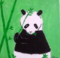 Panda de Clara, 12 ans et demi (acrylique sur toile)