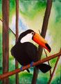 Toucan de Marine, 17 ans (acrylique sur toile)