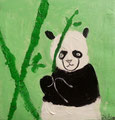 Panda de Aaron, 7 ans (acrylique sur toile)