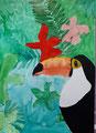Toucan, aquarelle de Manon, 10 ans et demi