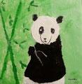 Panda de Nawfel, 5 ans (acrylique sur toile)