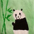 Panda de Clément, 5 ans  (acrylique sur toile)