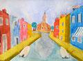 Burano, Lucie, 9 ans (aquarelle sur papier)