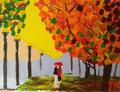 acrylique sur toile de Manon (9 ans et demi)