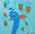 Paon de Pauline, 5 ans et demi (acrylique)