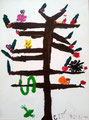 acrylique sur toile de Clément (5 ans)