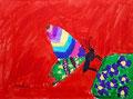 Papillon, feutres de Manon, 6 ans