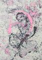 2007 Frau rosa-lila1 100x120cm