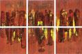 2004 Menschen rot-gelb 6x40x40cm