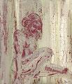 2009 Frau olivgrün 100x120cm
