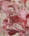 2007 Frau rot weiß 1 40x50cm