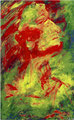 1998  Gesicht gelb-rot 36x57cm