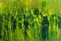 2003 Menschen gelb-grün 150x100cm