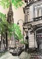 2017 Roonstraße Skizze A4 gerahmt 30x40cm -verkauft-