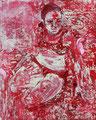 2007 Frau rotweiß 2 40x50cm