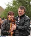 Демященкова Наталья с мужем и своей обожаемой русской тоечкой Рубинкой (Гранд Тандем Рубиновая Королева)