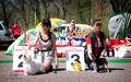 Кувикова Илона со своим мальтезе и Грицаева Виктория с подопечнм чихуахуа Лейла Араби Напалеон
