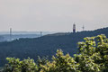 Blick auf die Halde Rheinpreussen mit Geleucht
