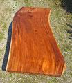 Tischplatte Naturholz Holz exotisch