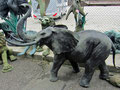 elefantenfigur bronze garten deko