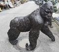 gorilla, groß, bronze, figur, statue