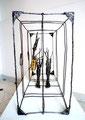 The traveller II- Size (cm): 60x40x20 - metal artwork steel sculpture