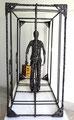 The traveller I- Size (cm): 80x60x30 - metal artwork steel sculpture