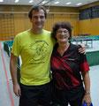 Ein schönes Paar - die Vereinsmeister im Doppel -