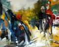 Der Sturz,120x150 cm, 2008, Öl auf Leinwand