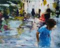 Plaza John Lennon,120x150 cm, 2010, Öl auf Leinwand