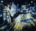 Nachtbus,140x160 cm, 2010, Öl auf Leinwand