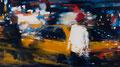 Ocean drive, 90x160 cm, 2015, Öl auf Leinwand