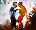 Die Tanzenden,100x120 cm ,2005, Öl auf Leinwand