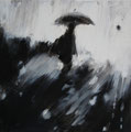 Through the rain, 30x30 cm, 2011, Öl auf Leinwand