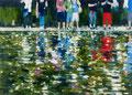 Flimmerteich,180x250 cm, 2013, Öl auf Leinwand
