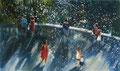 Waterfalls_02, 120x200 cm, 2021, Öl auf Leinwand