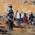 Stadtschnuppern, 60x60 cm, 2017, Öl auf Leinwand