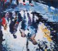 Wir vier,140x160 cm, 2011,Öl auf Leinwand