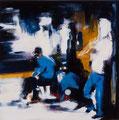 Kotti(Studie), 30x30 cm, 2011, Öl auf Leinwand