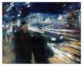 Nachtstrasse, 120x150 cm, 2009, Öl auf Leinwand