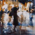 Wieder am See, 30x30 cm, 2011, Öl auf Leinwand