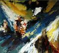 Zufällig im Spot III, 170x109 cm, 2008, Öl auf Leinwand